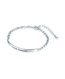 Silver-tone love forever bracelet