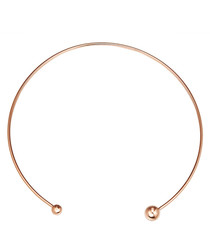 Rose gold-plated open necklace