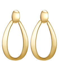 Yellow gold plated drop earrings