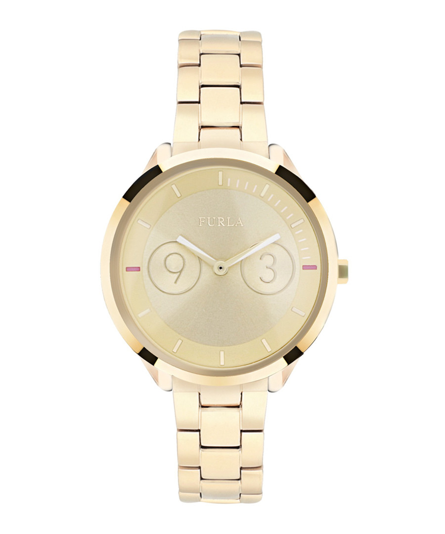 Metropolis gold-tone steel watch Sale - furla