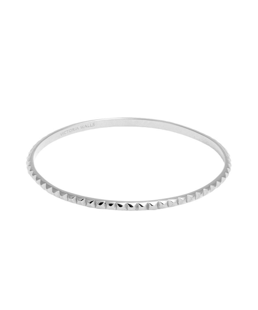 Stainless steel stud bangle Sale - victoria walls