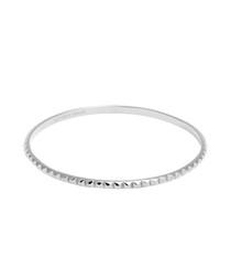 Silver-tone steel stud bangle