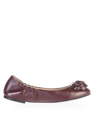1573c9ccca1e Blossom Bordeaux leather ballet flats Sale - TORY BURCH Sale