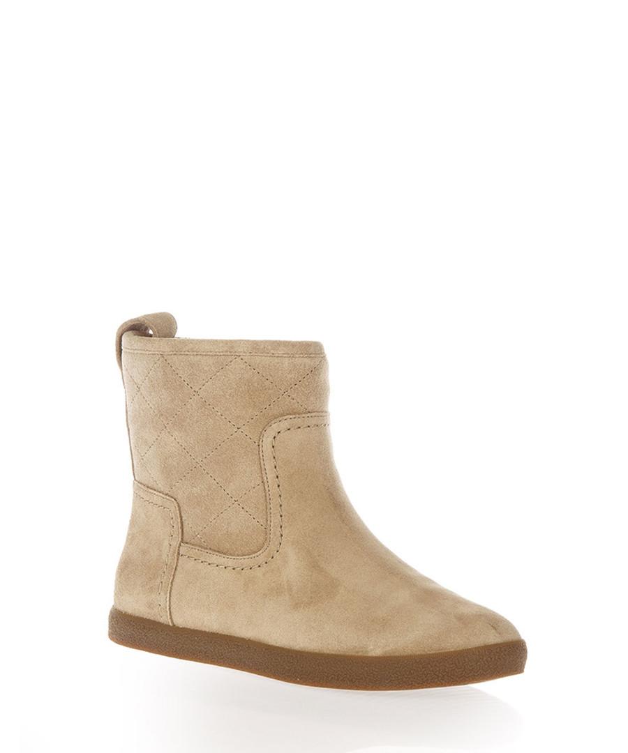 2c9ecaa9906a6 ... Alana camel suede ankle boots Sale - TORY BURCH ...