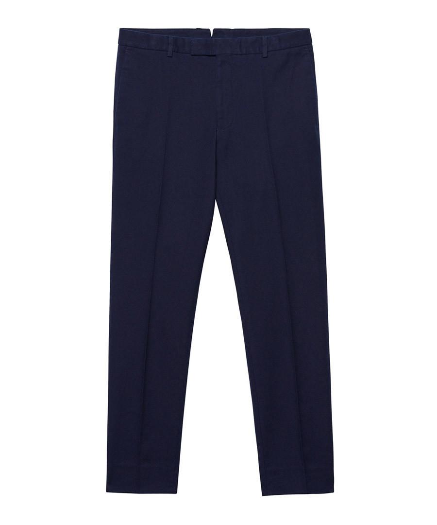 Evening blue pure cotton trousers Sale - gant