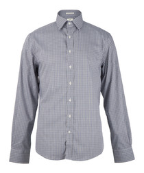 Marine pure cotton check shirt