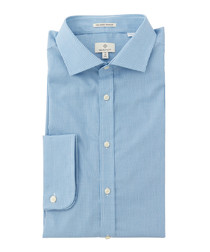 Blue pure cotton fitted shirt