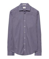Graphite pure cotton check shirt
