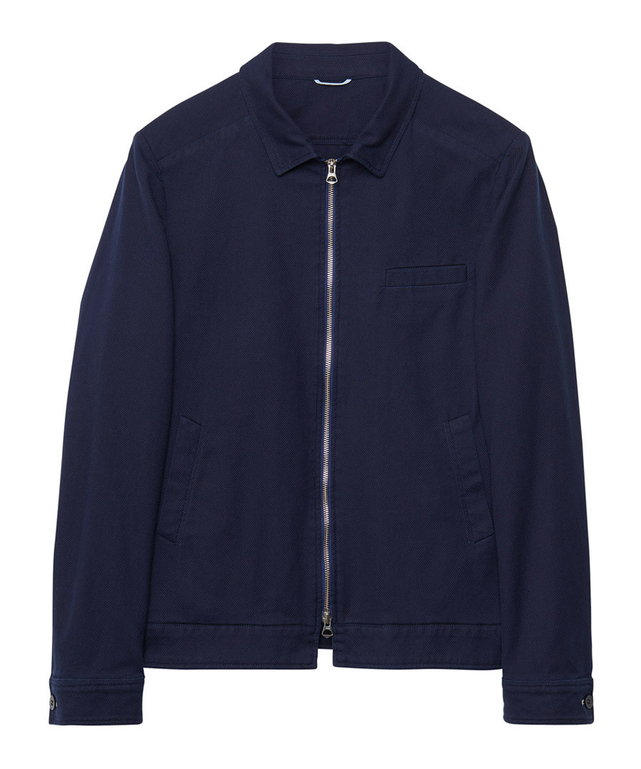 Evening blue cotton zip up jacket Sale - gant