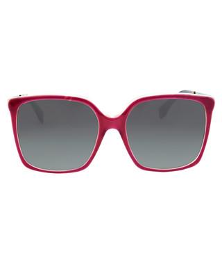 1c1f0a8f218a Fendi. Logo burgundy   brown square sunglasses