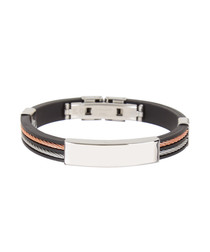 Black multi-tone steel bracelet