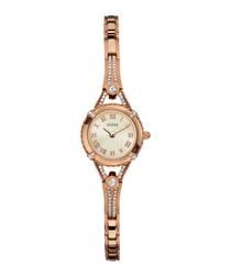 Angelic rose gold-tone bracelet watch
