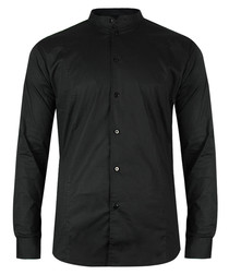 Aaron black cotton blend shirt