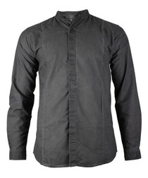 Dave black cotton long sleeve shirt