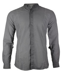 Dave dark grey cotton long sleeve shirt