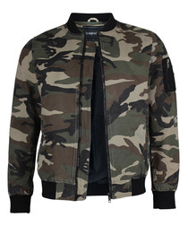 Camouflage pure cotton zip up jacket