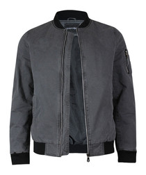Anthracite pure cotton bomber jacket