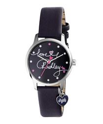 Love Radley navy & pink leather watch