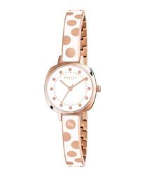 Kennington Spot white enamel watch