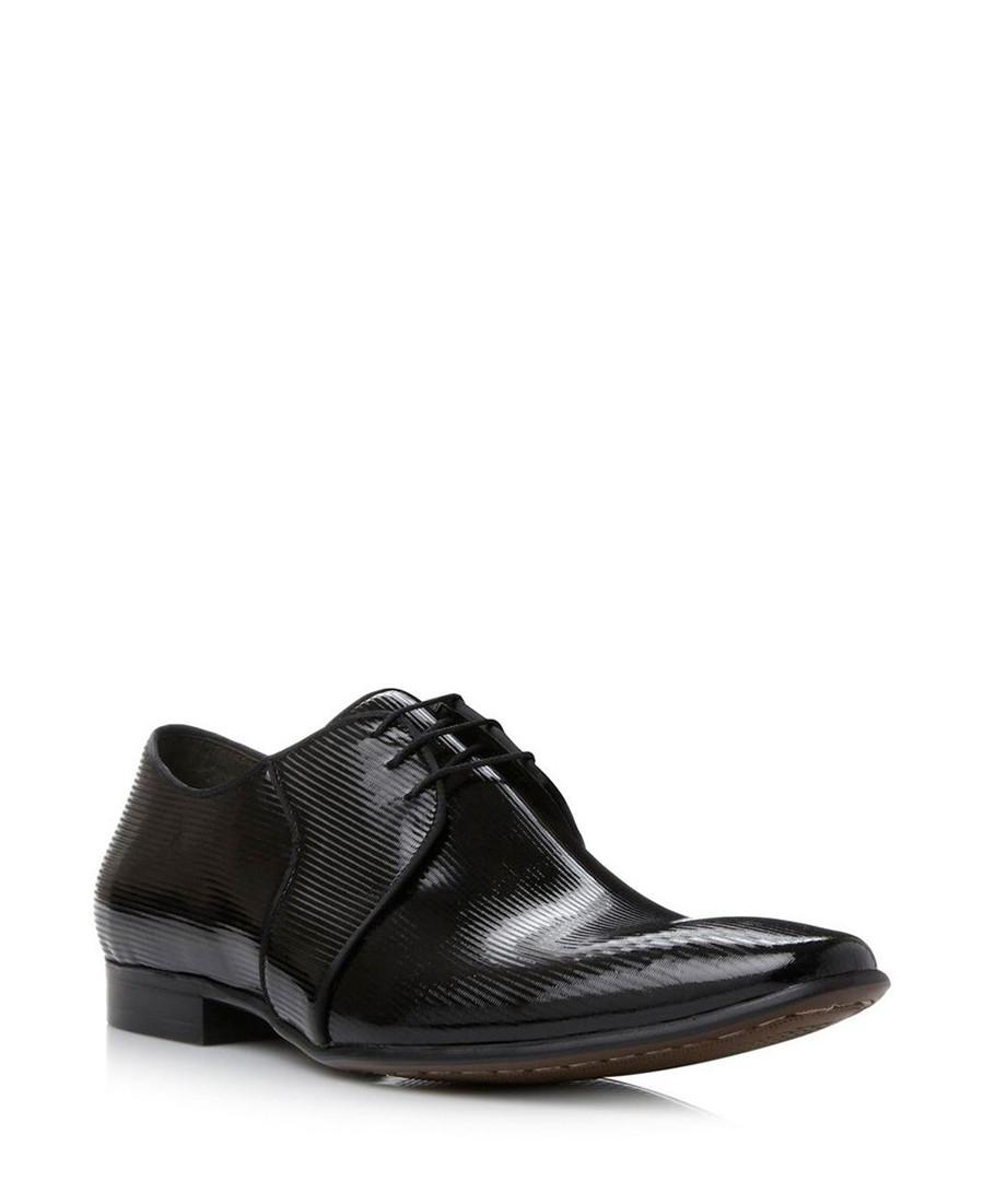 Acid black leather Derby shoes Sale - dune