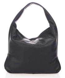 Black leather slouch shoulder bag