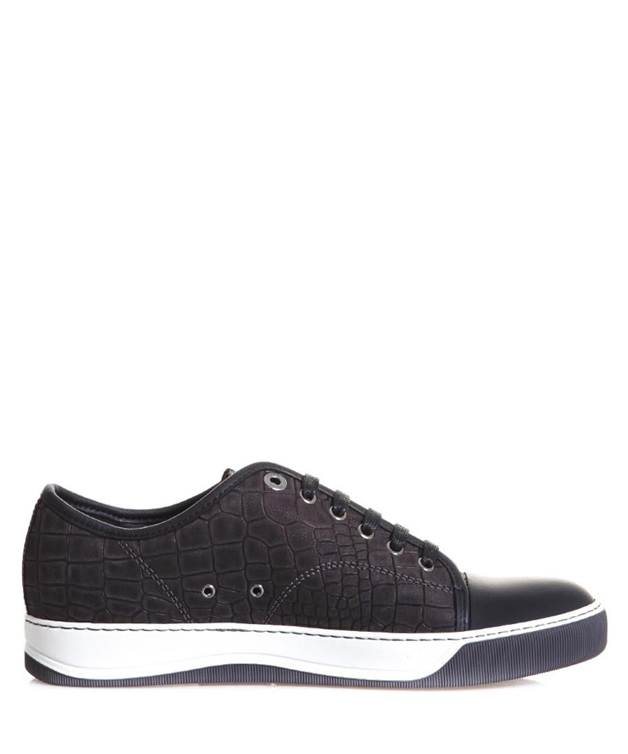 Men's dark grey nubuck sneakers Sale - lanvin