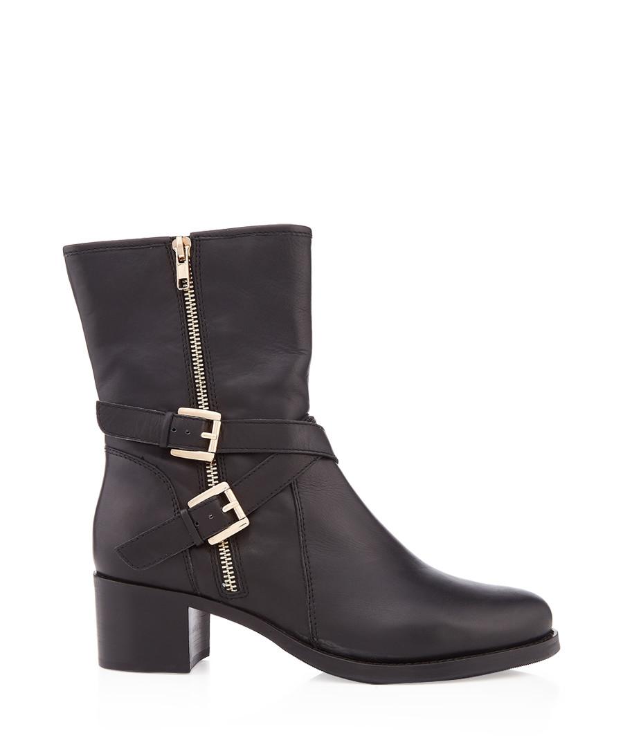 Rachelle black leather biker boots Sale - dune