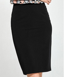 Black knee length pencil skirt