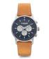 Imola 44 silver-tone & tan leather watch Sale - Lambretta Sale