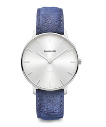 Classico 40 silver-tone leather watch