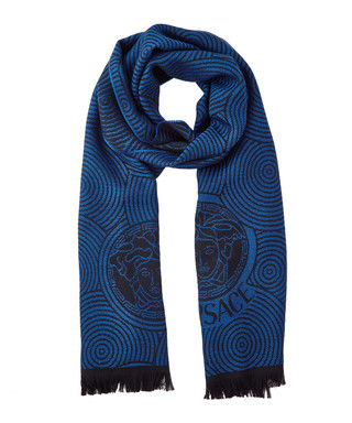 Blue violet pure wool printed scarf Sale - Versace Collection Sale 0b40fb1614