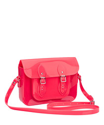 Melflex hot pink buckle shoulder bag