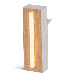Warm white LED wood letter L sign