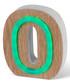 Green LED wood letter O sign Sale - Illuminated Art Sale