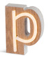Warm white LED wood letter P sign Sale - Illuminated Art Sale