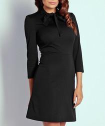 Black pussy bow dress