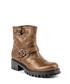 Bronze-tone leather textured boots Sale - V ITALIA BY VERSACE 1969 ABBIGLIAMENTO SPORTIVO SRL MILANO ITALIA Sale
