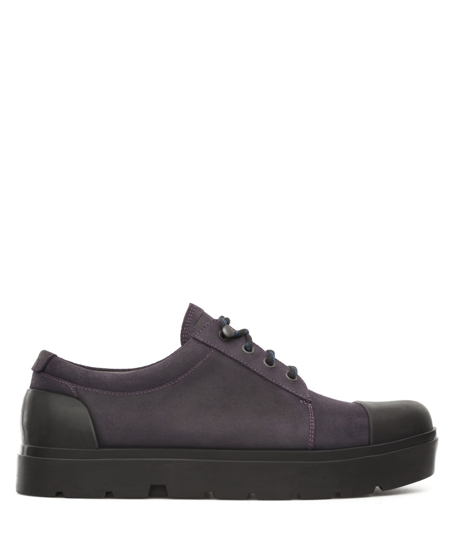 Men's violet leather lace up sneakers Sale - camper