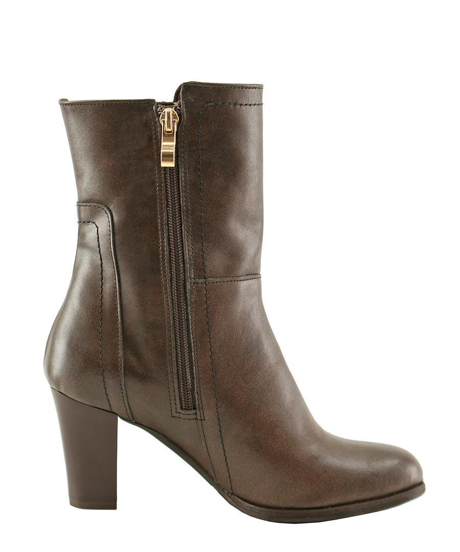 Brown leather heelend ankle boots Sale - bosccolo