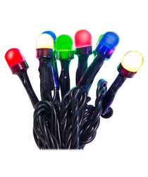 Multi-coloured light chain 40cm