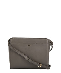The Lily grey leather cross body bag