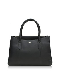 The Musas black leather grab bag