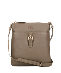 The Pendley taupe leather cross body bag