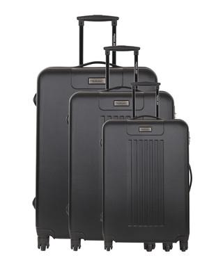 fc4fe649a 3pc Utrera black spinner suitcase nest Sale - Travel One Sale