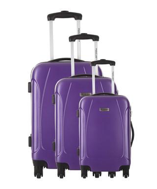 54536e8f7 3pc Swindon purple spinner suitcase nest Sale - Travel One Sale