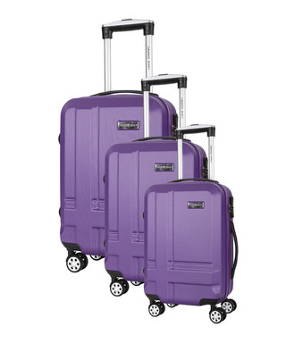 69a692f5f 3pc Sea purple spinner suitcase nest Sale - Travel One Sale