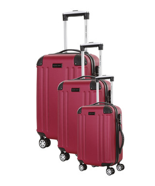 e61aa8186 3pc Swan fuchsia spinner suitcase nest Sale - Travel One Sale
