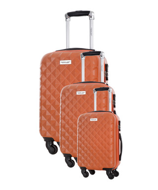 a2d589943 3pc Edison orange spinner suitcase nest Sale - Travel One Sale