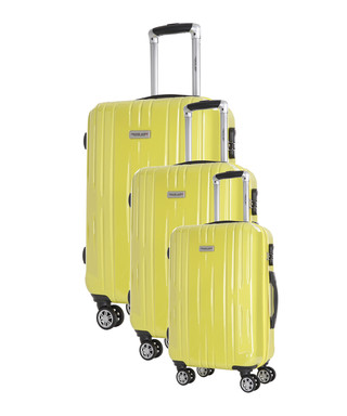 6e82d1f94 3pc Clifton yellow spinner suitcase nest Sale - Travel One Sale