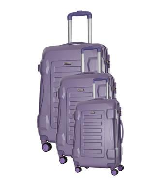 9c246839a 3pc Linden purple spinner suitcase nest Sale - Travel One Sale